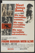 "Movie Posters:James Bond, From Russia with Love (United Artists, 1964). Poster (40"" X 60"").James Bond.. ..."