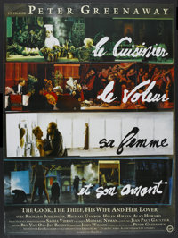 "The Cook, the Thief, His Wife & Her Lover (Pari Films, 1990). French Grande (46"" X 62""). Drama"