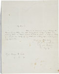 "Autographs:Statesmen, George M. Dallas Autograph Letter Signed, ""G. M. Dallas"".One page, 7.75"" x 10"", August 20, 1849, n.p.. Writing to Major..."