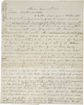 Autographs:Military Figures, [John Brown of Osawatomie] Owen Brown Autograph Letter Signed to His Brother John Brown, Jr. Two pages with a partial integr...