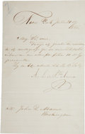 "Autographs:Non-American, Antonio Lopez de Santa Anna Letter Signed ""A.L. er Sta.Anna"". Written on one of the four integral pages, 5"" x 8..."