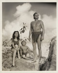 "Movie Posters:Adventure, Johnny Weissmuller, Maureen O'Sullivan, and Johnny Sheffield in""Tarzan's Secret Treasure"" (MGM, 1941). Still (8"" X 10"").. ..."