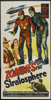 """Zombies of the Stratosphere (Republic, 1952). Three Sheet (41"""" X 81""""). Serial"""