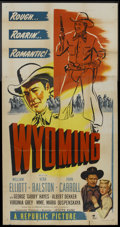 "Movie Posters:Western, Wyoming (Republic, 1947). Three Sheet (41"" X 81""). Western.. ..."