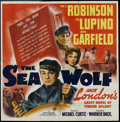 """Movie Posters:Adventure, The Sea Wolf (Warner Brothers, 1941). Six Sheet (81"""" X 81"""") andLobby Card (11"""" X 14"""") . Adventure.. ... (Total: 2 Items)"""