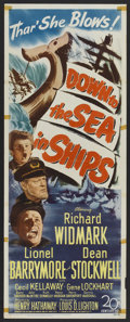 "Movie Posters:Adventure, Down to the Sea in Ships (20th Century Fox, 1949). Insert (14"" X36""). Adventure.. ..."