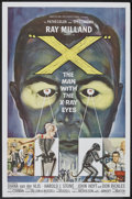 "Movie Posters:Science Fiction, X-The Man With the X-Ray Eyes (American International, 1963). One Sheet (27"" X 41""). Science Fiction.. ..."