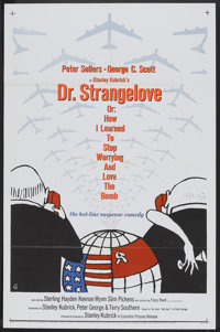 "Dr. Strangelove or: How I Learned to Stop Worrying and Love the Bomb. (Columbia, 1964). One Sheet (27"" X 41"")..."