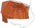 Explorers:Space Exploration, Gemini 10 Flown Parachute Cloth Fragment and Suspension LineDirectly from the Collection of Mission Commander John Young,Cer...