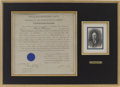 """Autographs:U.S. Presidents, William Howard Taft Naval Appointment Signed. One page, 16"""" x15.5"""", October 7, 1910, appointing Robert F. Sheehan to the po..."""