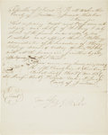 "Autographs:Statesmen, Republic of Texas: Barnard Bee Appointment Signed ""B E Bee"".One page, 8"" x 10"", November 27, 1836, Jackson County, Repu..."