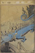 Paintings, JOHN R. NEILL (American 1877 - 1943). Tik-Tok of Oz, c. 1913. Mixed media on board. 16 x 11.5 in.. Not signed. ...