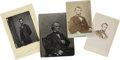 "Photography:Cabinet Photos, Abraham Lincoln and Andrew Johnson Images, including two cabinetcards (6""x 4"" and 6.5"" x 4"") and a print (4""x 5.25"") of Lin..."
