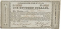 "Autographs:Statesmen, [Texas Republic] Francis R. Lubbock Document Signed as comptroller.One partly printed certificate, 6.75"" x 3.25"", September..."