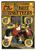 Golden Age (1938-1955):Classics Illustrated, Classic Comics #1 The Three Musketeers HRN 28 (Gilberton, 1946) Condition: VF+....