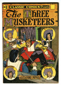 Classic Comics #1 The Three Musketeers HRN 28 (Gilberton, 1946) Condition: VF+