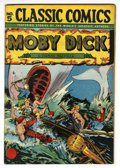 Golden Age (1938-1955):Classics Illustrated, Classic Comics #5 Moby Dick HRN 28 (Gilberton, 1946) Condition:VF+....