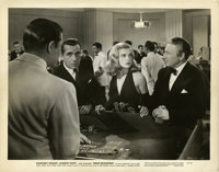 "Humphrey Bogart and Lizabeth Scott in ""Dead Reckoning"" (Columbia, 1947). Stills (2) (8"" X 10"")..."