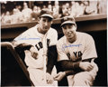 Autographs:Photos, Ted Williams And Joe DiMaggio Dual Signed Oversized Photograph....
