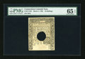 Colonial Notes:Connecticut, Connecticut March 1, 1780 10s Punch Cancel PMG Gem Uncirculated 65 EPQ....