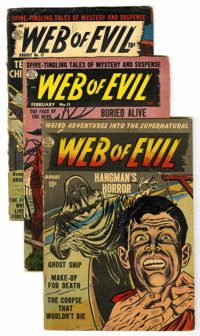 Web of Evil Group (Quality, 1952-54).... (Total: 4 Comic Books)