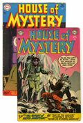 Golden Age (1938-1955):Horror, House of Mystery #22 and 35 Group (DC, 1954-55) Condition: AverageVG+.... (Total: 2 Items)