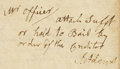 """Autographs:U.S. Presidents, John Adams Autograph Endorsement Signed on Verso of a Partly Printed Document. One page, 8.5"""" x 6.75"""", Boston, January 18, 1..."""