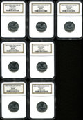 Statehood Quarters, (7)2004-D 25C Wisconsin Extra Leaf Low MS65 and MS66 NGC. ...(Total: 7 coins)