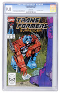 Modern Age (1980-Present):Science Fiction, Transformers #71 (Marvel, 1990) CGC NM/MT 9.8 White pages....