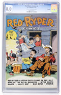 Golden Age (1938-1955):Western, Red Ryder Comics #8 File Copy (Dell, 1942) CGC VF 8.0 Cream to off-white pages....