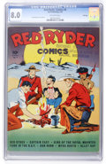 Golden Age (1938-1955):Western, Red Ryder Comics #6 File Copy (Dell, 1942) CGC VF 8.0 Off-white pages....