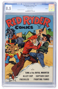 Red Ryder Comics #25 Rockford pedigree (Dell, 1945) CGC VF+ 8.5 Off-white pages