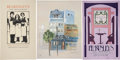 Miscellaneous:Ephemera, Barry Moser and others. Trio of Artist-Signed Broadsides forBeardsley's Café Restaurant. This exceptional lot of anniversar...(Total: 3 Items)