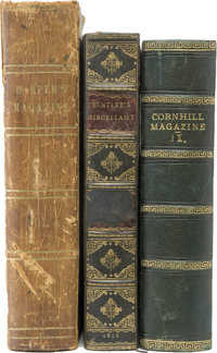 [Charles Dickens]. Three Bound Magazine Collections Featuring Charles Dickens Stories