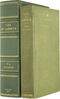 W. Somerset Maugham. Liza of Lambeth. London: T. Fisher Unwin, 1897.  First edition, firs