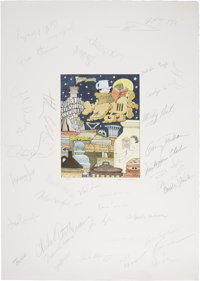 """Maurice Sendak Signed Poster Entitled """"Freedom to Read."""" Signed by Sendak at the lower right of"""