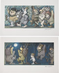 Autographs:Artists, Maurice Sendak. Where the Wild Things Are (Four Signed Prints). 1971.... (Total: 4 Items)