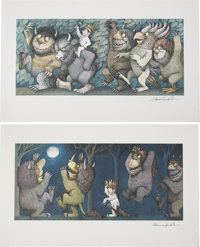 Maurice Sendak. Where the Wild Things Are (Four Signed Prints). 1971