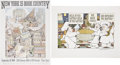 """Miscellaneous:Ephemera, Maurice Sendak Two Signed Art Prints, including: """"Milk in theBatter, Milk in the Batter."""" 1971 Measures 14.5 x 19.2... (Total: 2Items)"""