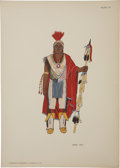 Books:First Editions, O. B. Jacobson. North American Indian Costumes (1564-1950).Nice [France]: Éditions D'Art C. Szwedzicki, 1952. F... (Total: 2Items)