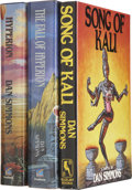Books:Signed Editions, Dan Simmons. Three First Editions, Two Signed, including: Song of Kali. [1985]. [and:] Hyperion. [19... (Total: 3 Items)