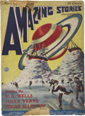 Books:First Editions, Two Pulp Magazine-Related Titles, including: Hugo Gernsback[editor]. Amazing Stories - Volume 1, Number 1. ... (Total:2 Items)