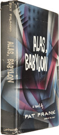 Books:First Editions, Pat Frank. Alas, Babylon. Philadelphia: J. B. LippincottCompany, [1959]. First edition....