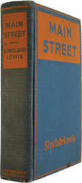Books:Signed Editions, Sinclair Lewis. Main Street. New York: Harcourt, Brace andHowe, 1920....