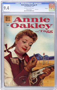 Annie Oakley and Tagg #8 - File Copy (Dell, 1956) CGC NM 9.4 Off-white to white pages