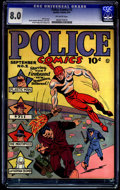 Golden Age (1938-1955):Superhero, Police Comics #2 (Quality, 1941) CGC VF 8.0 OFF-WHITE pages.