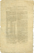 "Miscellaneous:Ephemera, [Henry Ward] Rhode Island Revolutionary War Broadside. One page,one sided, 8.75"" x 13.75"", Providence Plantations, July 2, ..."