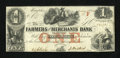 Obsoletes By State:Tennessee, Memphis, TN- Farmers and Merchants Bank $1 May 1, 1854. ...