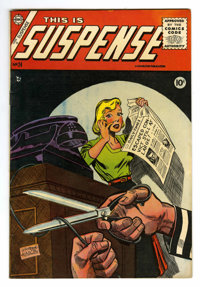 This Is Suspense #24 (Charlton, 1955) Condition: FN/VF