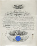 Autographs:U.S. Presidents, Theodore Roosevelt Marine Corps Commission Signed as the twenty-sixth president and countersigned by Secretary of the Navy ...